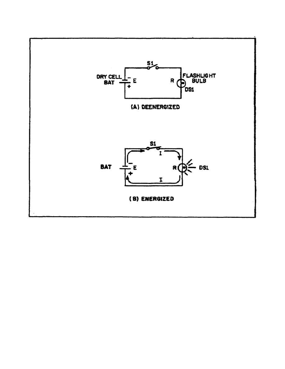 figure 12  basic flashlight schematic