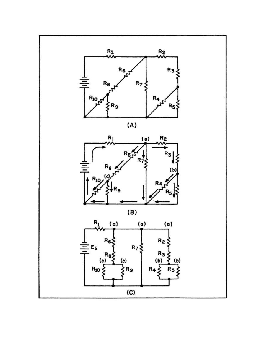 figure 57  redrawing a complex circuit